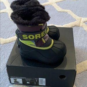 Sorel toddler 7 commander snow boots new fur